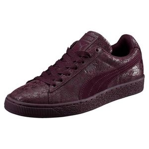 WOMENS Puma SUEDE REMASTER SIZE 6 LOW-TOP SNEAKERS